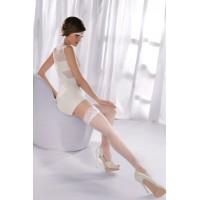 Princessa 05, белые чулки со швом