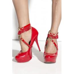 Украшение на ногу SO 02 red